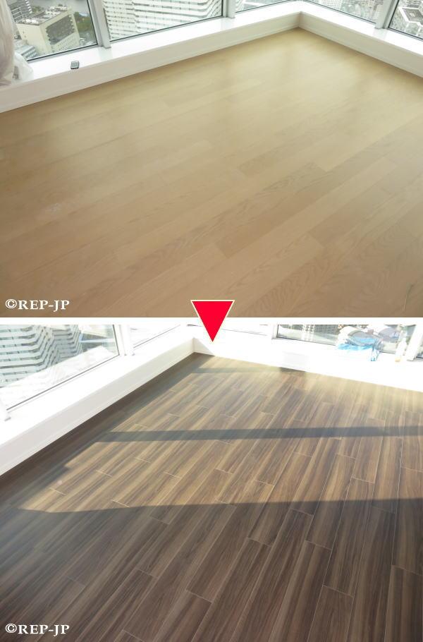 床暖房重ね張り施工